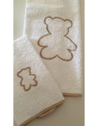 Coppia asciugamani in spugna con orsi...