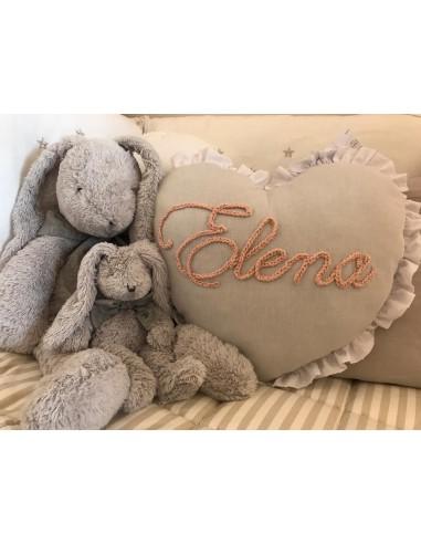 Cuscino personalizzato con ruches