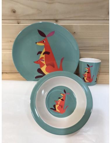 Set piatti canguro