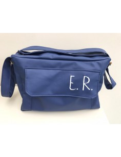 Diaper bag in ecopelle blu...