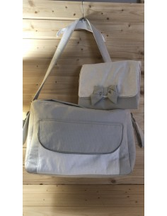 Diaper bag in cotone...