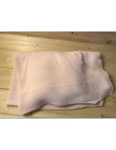 Coperta rosa in 100% cotone...