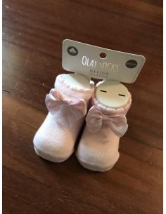 calzini rosa con fiocchino