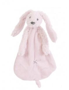 Doudou coniglio rosa