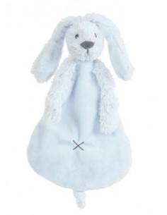 Doudou coniglio celeste