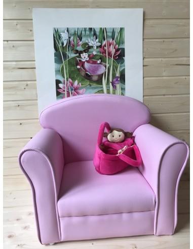 Poltrona in ecopelle rosa
